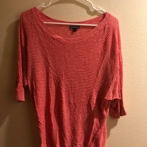 Express brand pink three quarter sleeve top